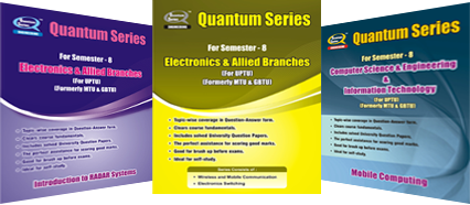 Quantum Series is the complete one-stop solution for engineering student looking for a simple yet effective guidance system for core engineering subject. Based on the needs of students and catering to the requirements of the syllabi, this series uniquely addresses the way in which concepts are tested through university examinations. The easy to comprehend question answer form adhered to by the books in this series is suitable and recommended for students.