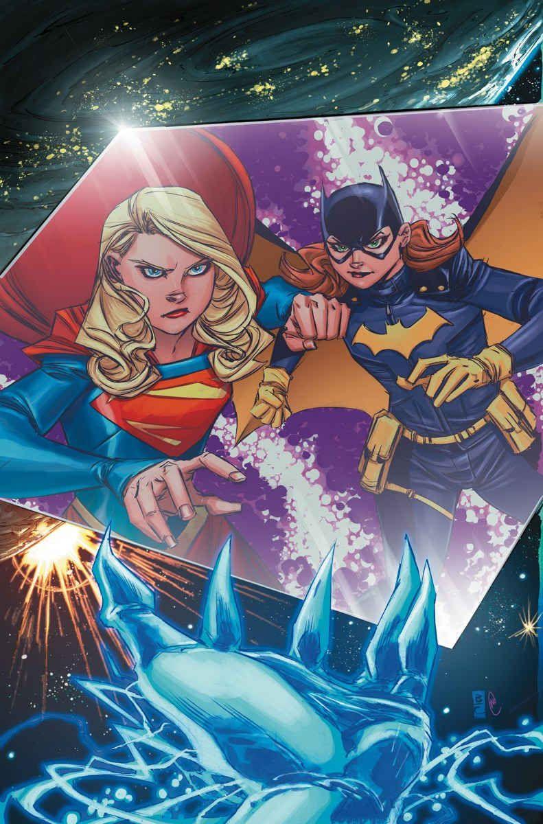 """SUPERGIRL_9Escape from the Phantom Zone"""" parte uno!  Atrapado en la Zona Fantasma, Supergirl y Batgirl debe enfrentarse al Rey Fantasma para escapar!  Pero, ¿qué equipo mortal es el edificio Emperatriz Esmeralda?  ¿Y qué tiene que ver con el futuro de la Chica del Acero?"""