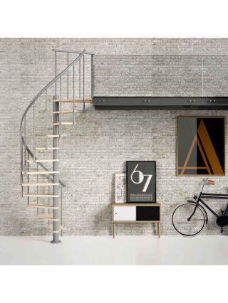 Best Dolle Calgary Grey Spiral Stair Kit Multiplex 400 x 300
