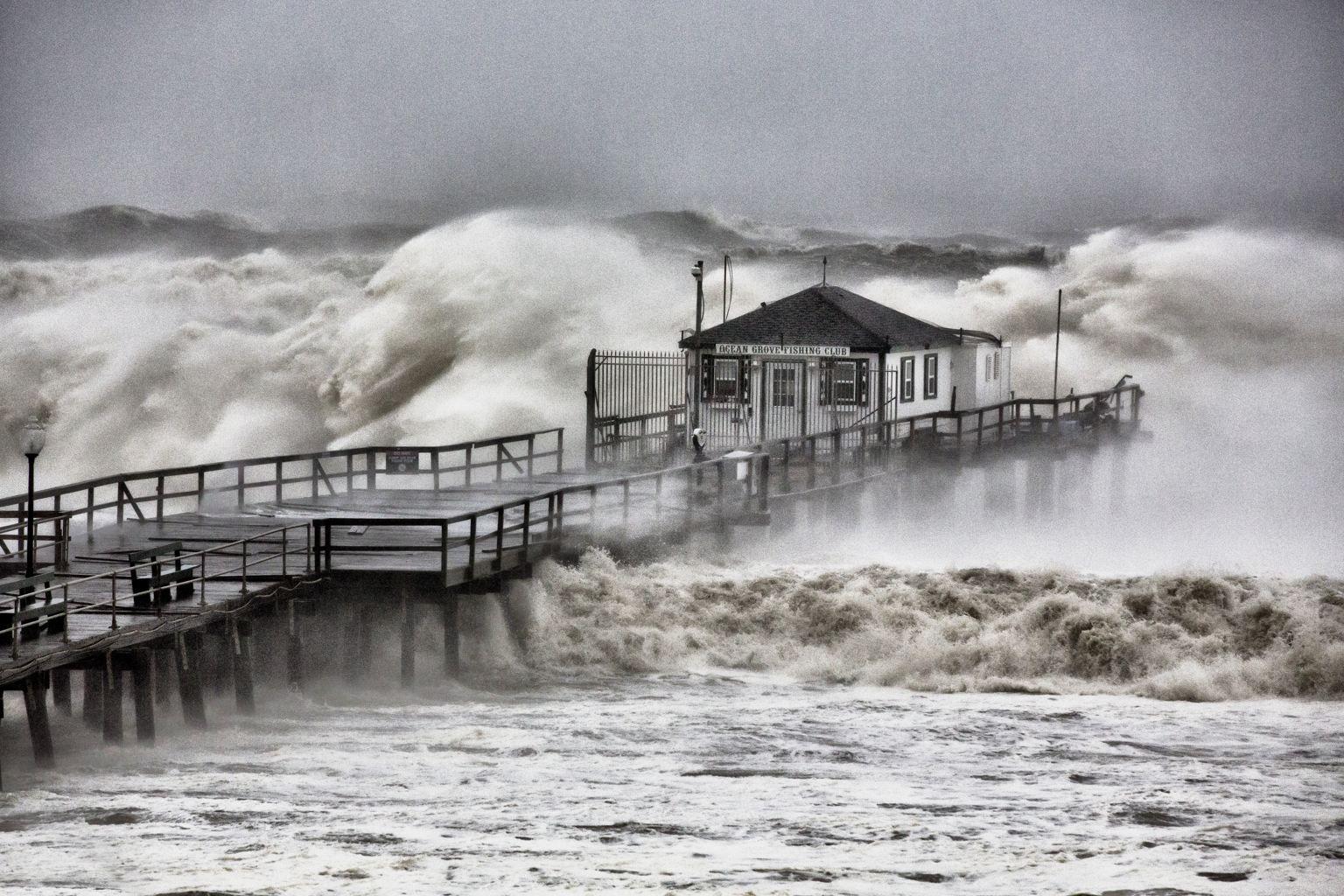 Hurricane Sandy Ocean Grove Pier Nj By Bob Bowne Hurricane Sandy Hurricane Ocean Grove