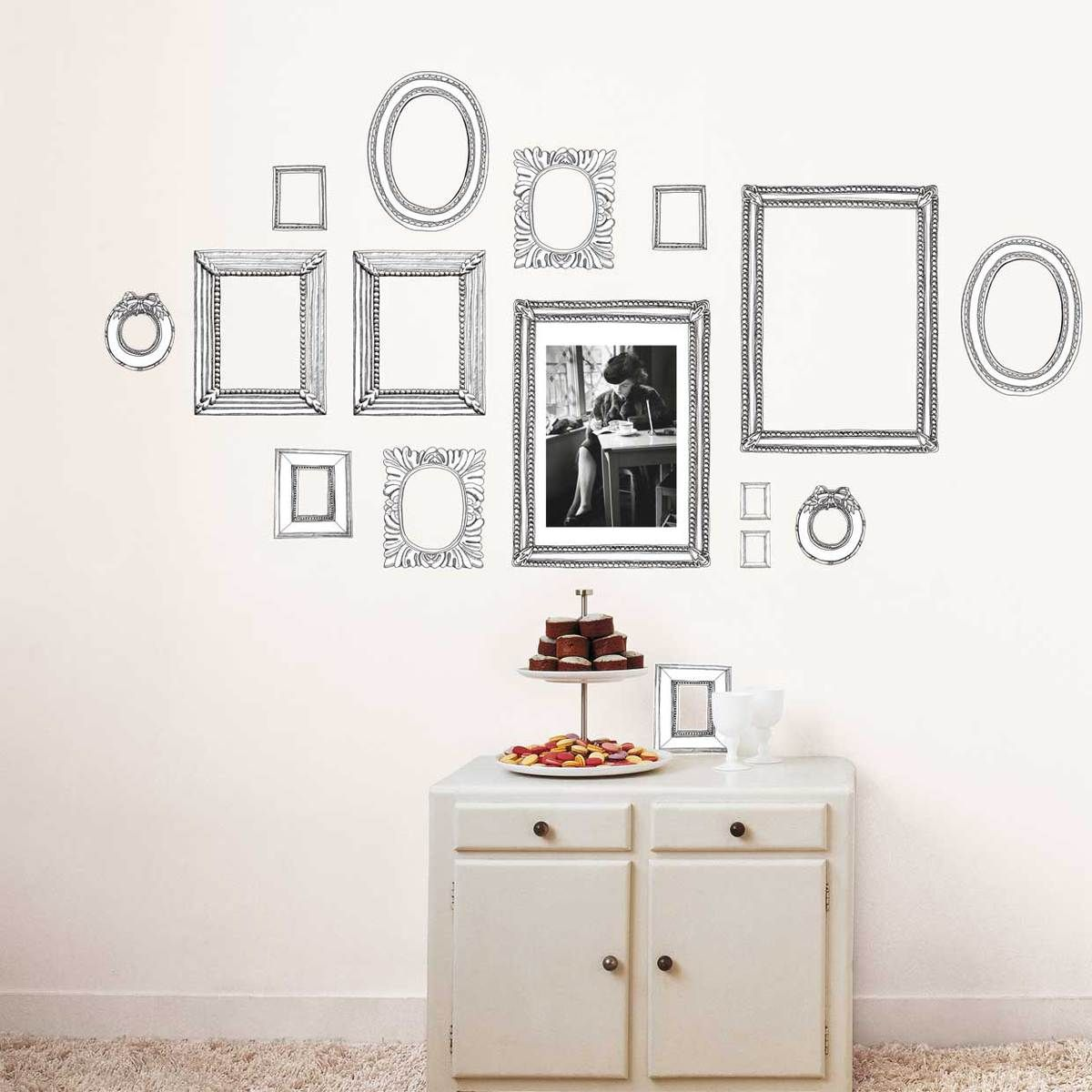 eu.Fab.com | Wandsticker Gezeichnete Rahmen | DIY - Decoration ...