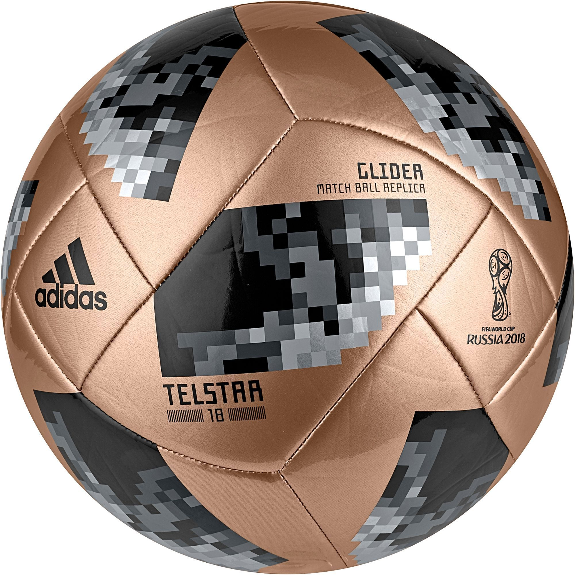 big sale ce39a 3554c adidas 2018 Fifa World Cup Russia Telstar Glider Soccer Ball, Gold Black   worldcupsoccerball