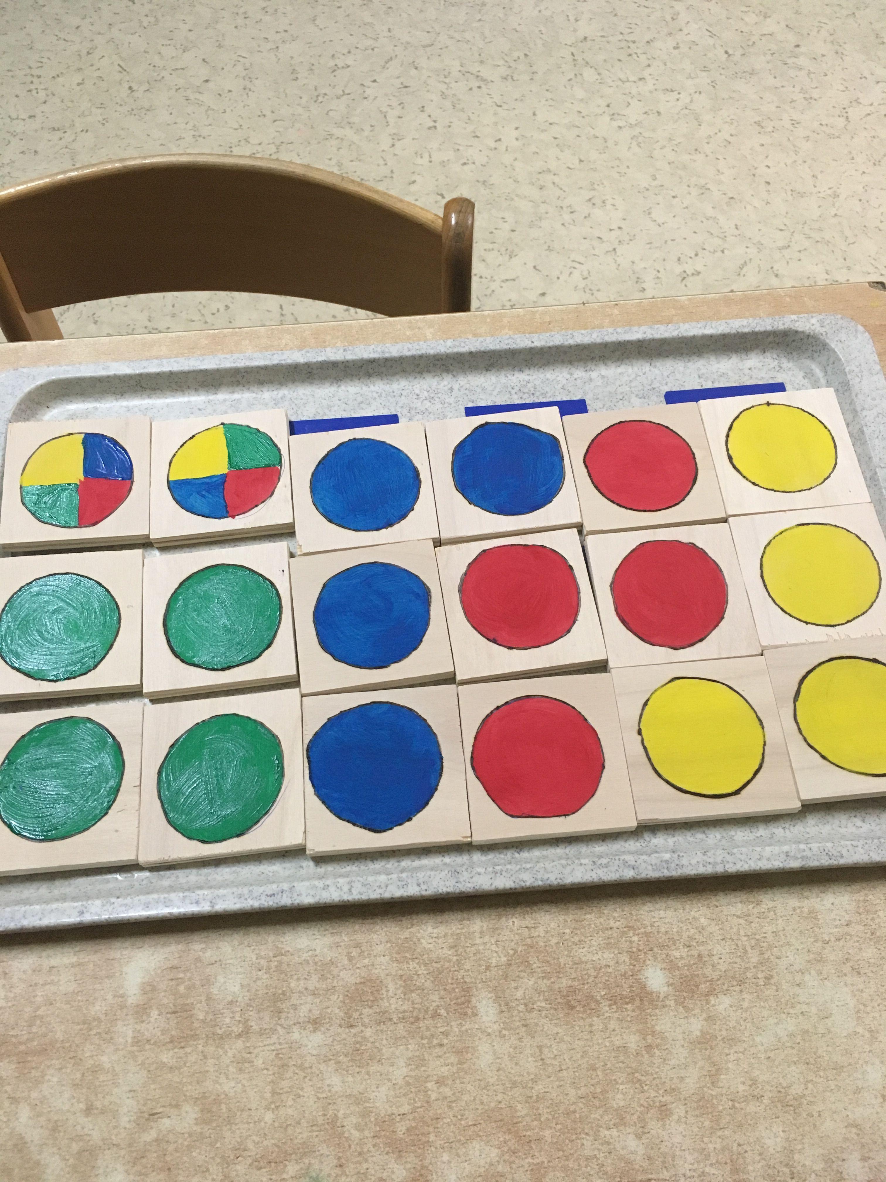 Farbenmemory für unsere jüngsten. Als Abschluss der farbwochen.
