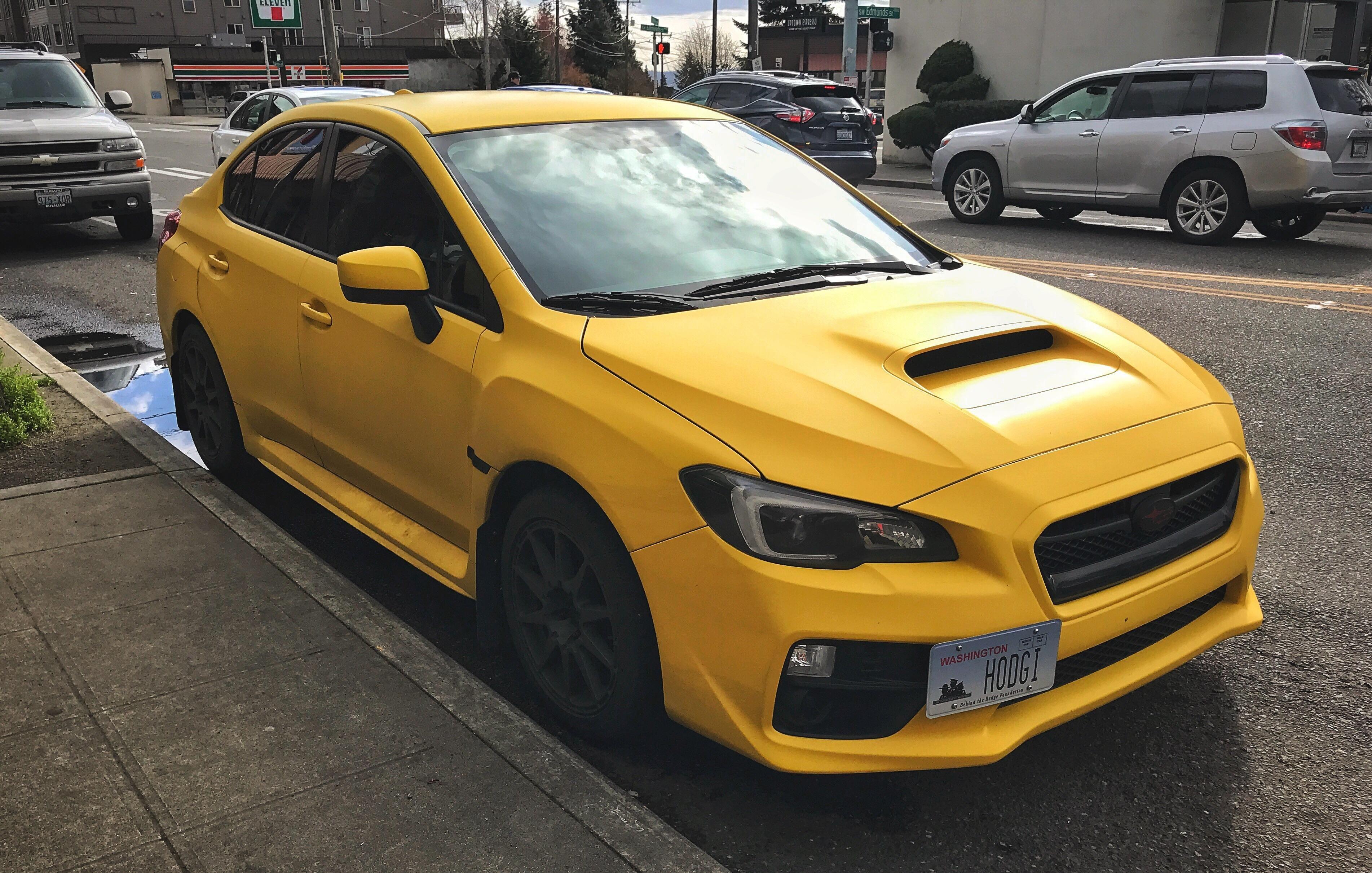 Spotted A Wrx With A Yellow Wrap In W Seattle Subaru Wrx Sti Impreza Forester Subie Wrx Subaru Spotted