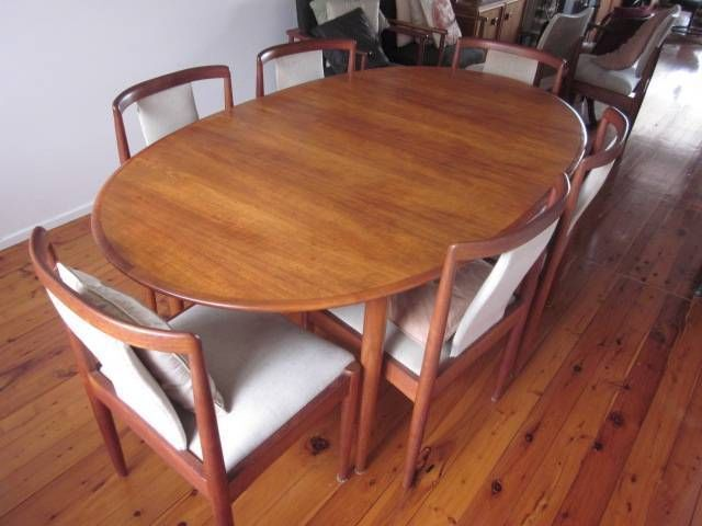 Retro 60 S Teak Oval Parker Dining Table Amp 6 Chairs Danish