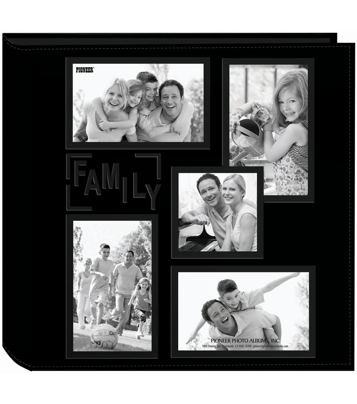 Pioneer 5 Up Collage Frame Sewn Embossed Photo Album 12 X12 Black With Images Collage Frames Photo Album Photo