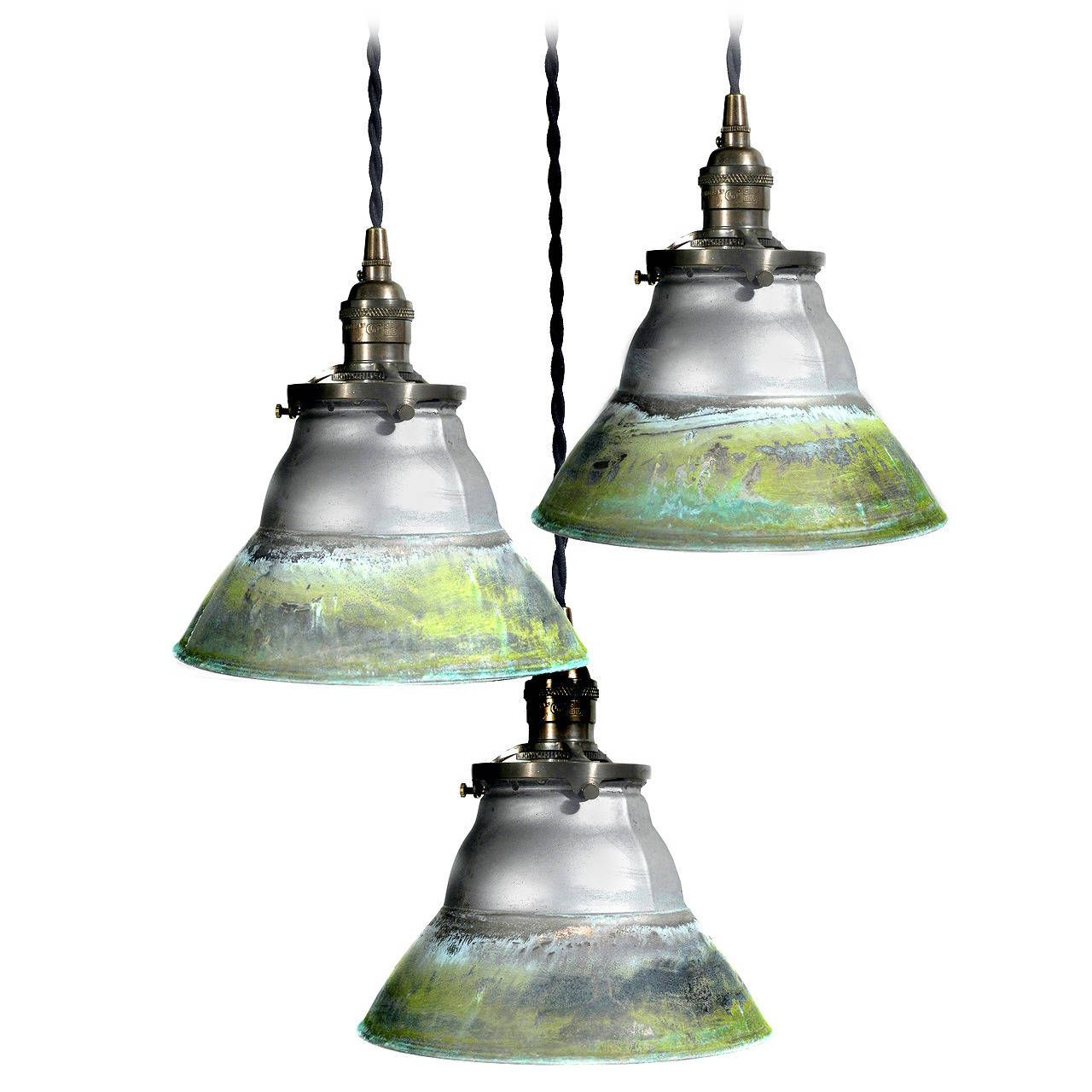 mercury glass pendant lighting. Verdigris Copper Mercury Glass Mirrored Pendants   1stdibs.com Pendant Lighting