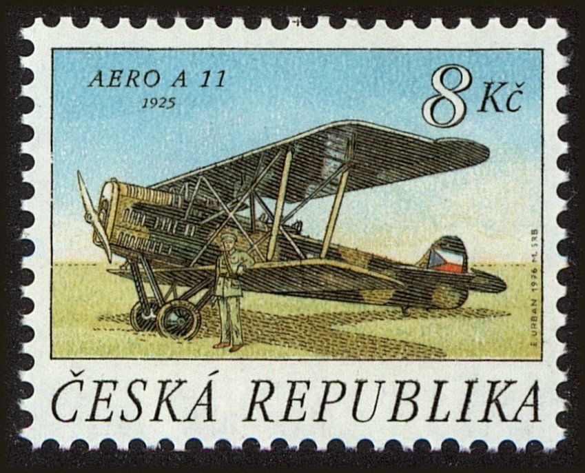 BI-PLANE AERO A 11, 1925 | Stamps : Europe | Postage stamps