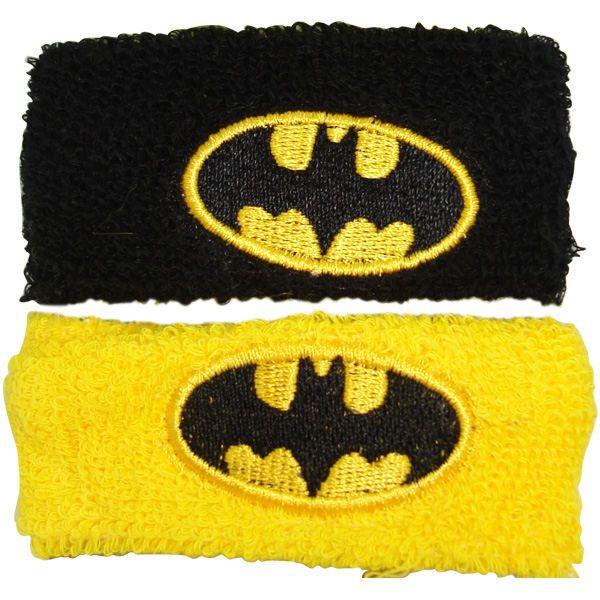 Batman Black Yellow Wristband Set