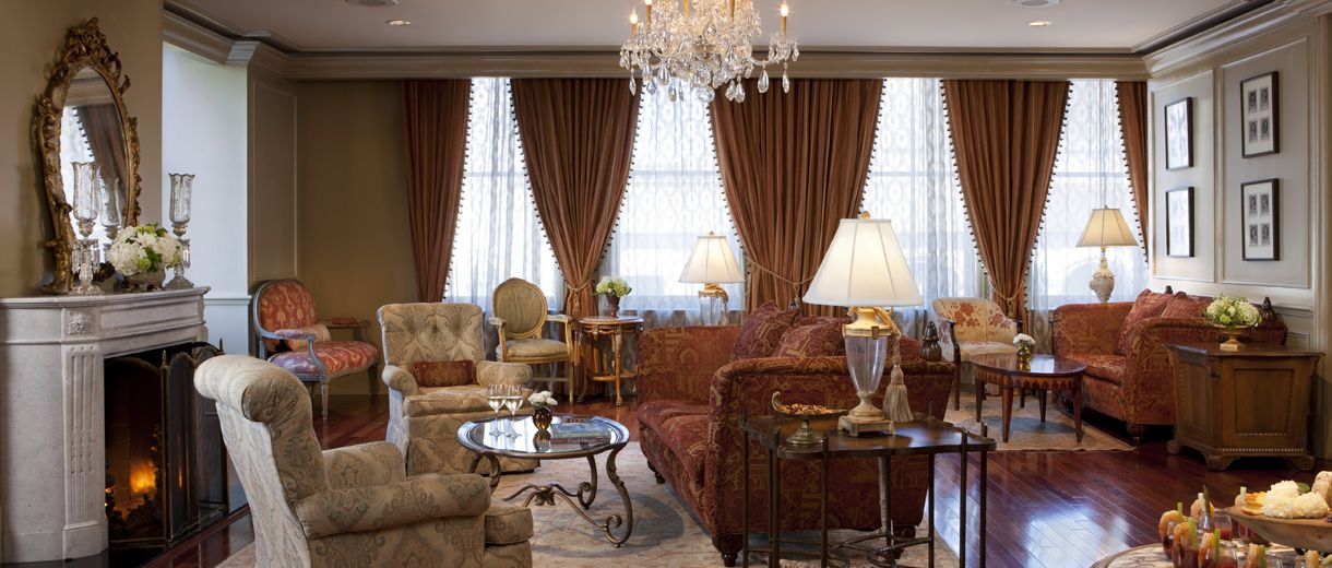 Unwind and luxuriate on the private key access Club Level of The Ritz-Carlton, New Orleans.