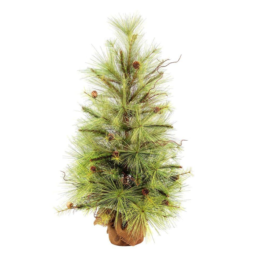 Vickerman 48 Jasper Pine Artificial Christmas Tree Unlit Pine Christmas Tree Artificial Tree Artificial Christmas Tree