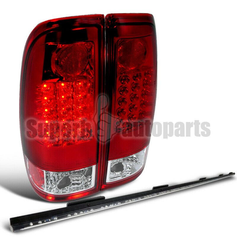Ad Ebay 1997 2003 Ford F150 F250 Red Led Tail Lights W 60 Tailgate Led Strip Lamp Led Tail Lights Led Light Bar Truck Red Led