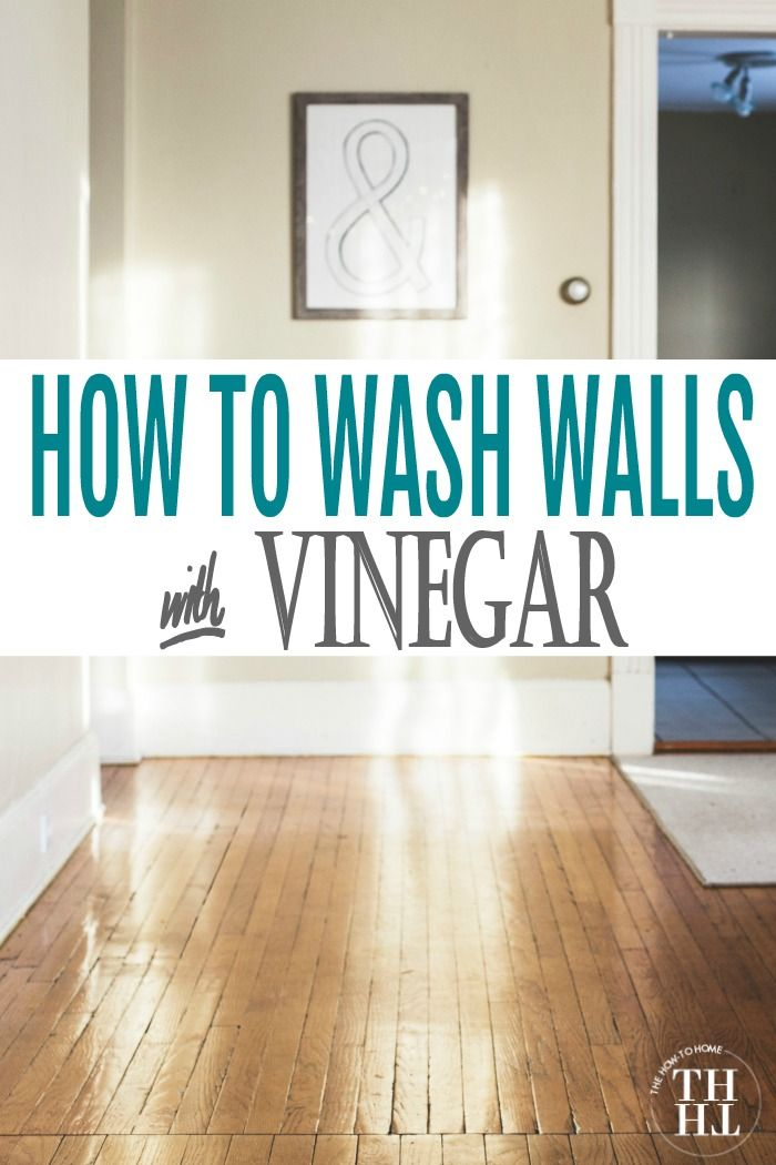 How to wash walls with vinegar. The process is simple with these easy-to-follow tips and the result is a cleaner, fresher home.