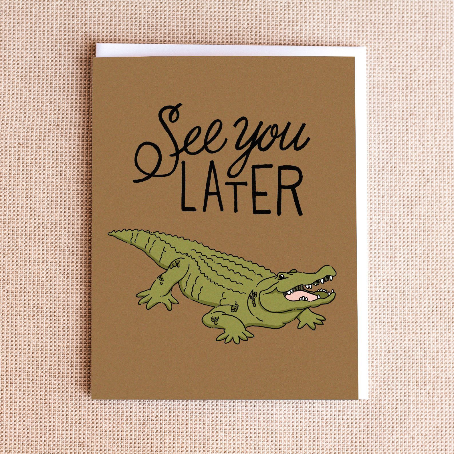 Tarjeta Regalo Casa Del Libro See You Later Alligator Card | Cartas | Cartas