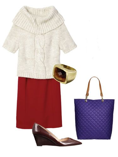 Tweed Jacket And Preppy Sweater - Work Outfits For Women - Redbook