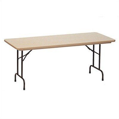 Standard Plastic Folding Table Color Mocha Granite With Brown Frame Size 30 X 72 By Correll Inc 234 99 R3072 24 C Folding Table Grey Granite Sale Table