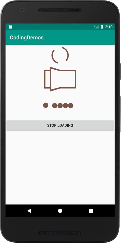 Android Loading View Add Spinner And Dot Loading