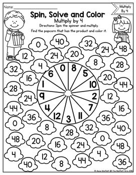 Color the Fraction Math Worksheet Material didctico t