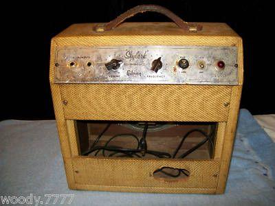 vintage gibson skylark tube guitar amp amplifier 1950 s vintage guitar amps guitar amp. Black Bedroom Furniture Sets. Home Design Ideas