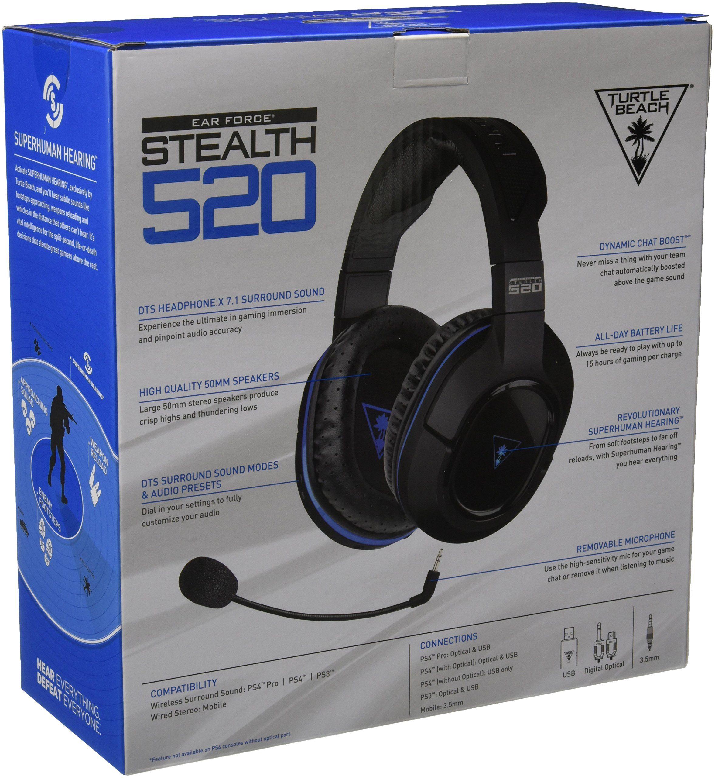 Turtle Beach Stealth 520 Premium Fully Wireless Gaming Headset Ps4 Pro Ps4 Wireless Gaming Headset Turtle Beach Gaming Headset