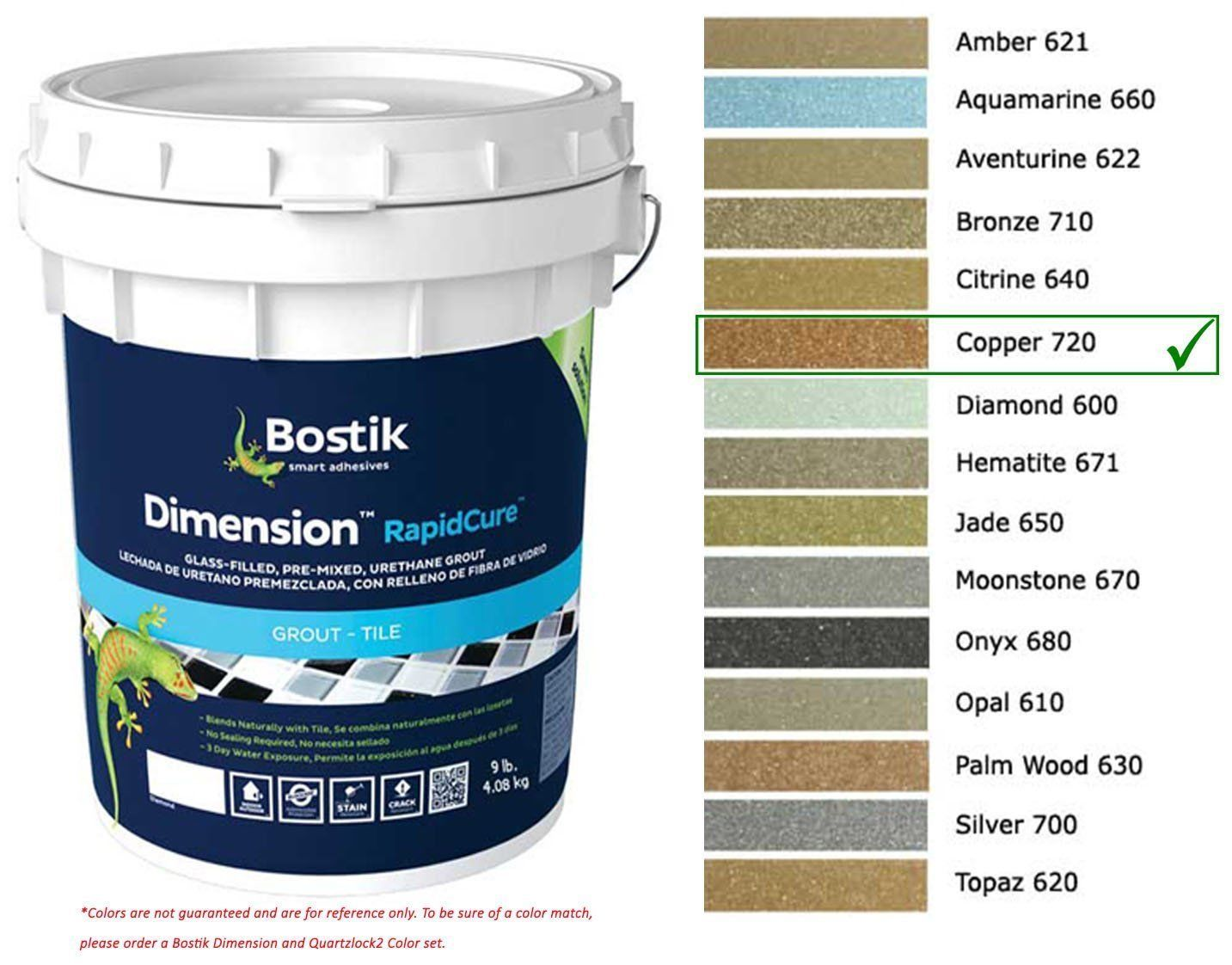 Grout Glue And Substrates 162080 Bostik Dimension Starglass Grout 720 Copper 9 Lbs Buy It Now Only 97 48 On Grout Tile Grout Calcium Carbonate Powder