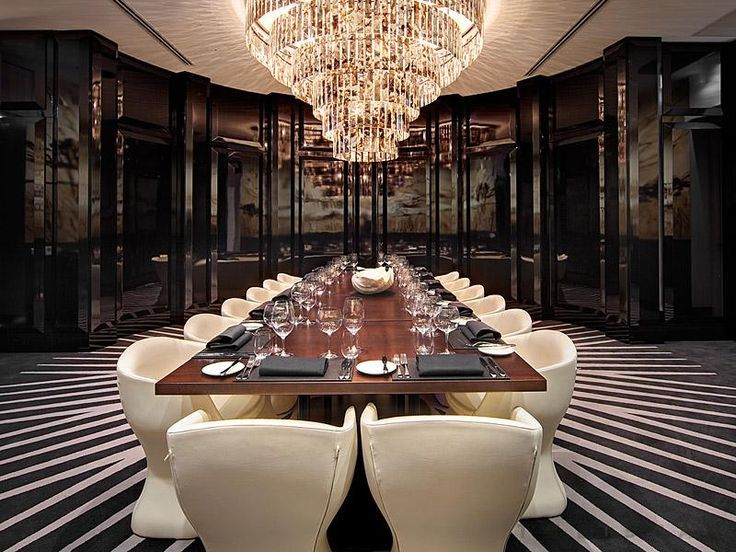 Chandelier In The Private Dining Room At Black By Ezard
