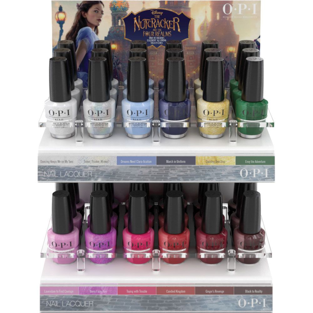 Opi The Nutcracker And The Four Realms The Nutcracker And The Four Realms Edition C 36 Pc Opi Acrylic Display Nail Lacquer