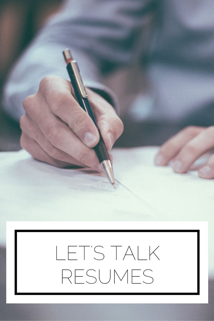 LetS Talk Resumes  Crafts Etiquette And Organizing