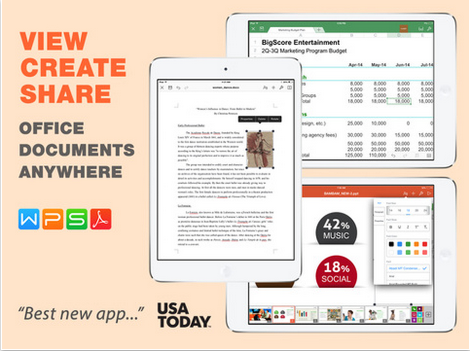 A Great App to Create and Edit Word, PowerPoint and Excel
