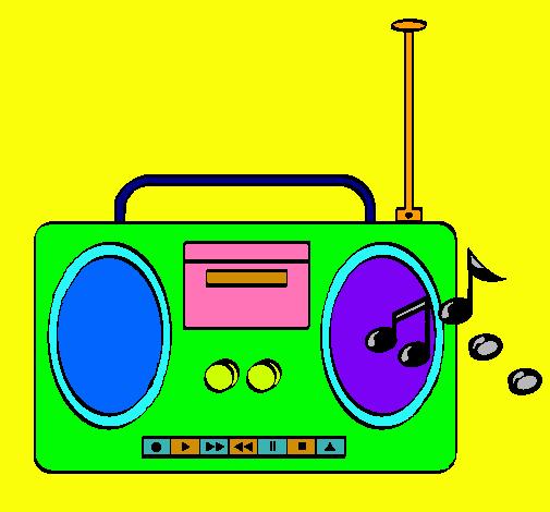Dibujo De Radio Cassette 2 Pintado Por Okidoki En Dibujos Net El Cassette Radio Dibujos