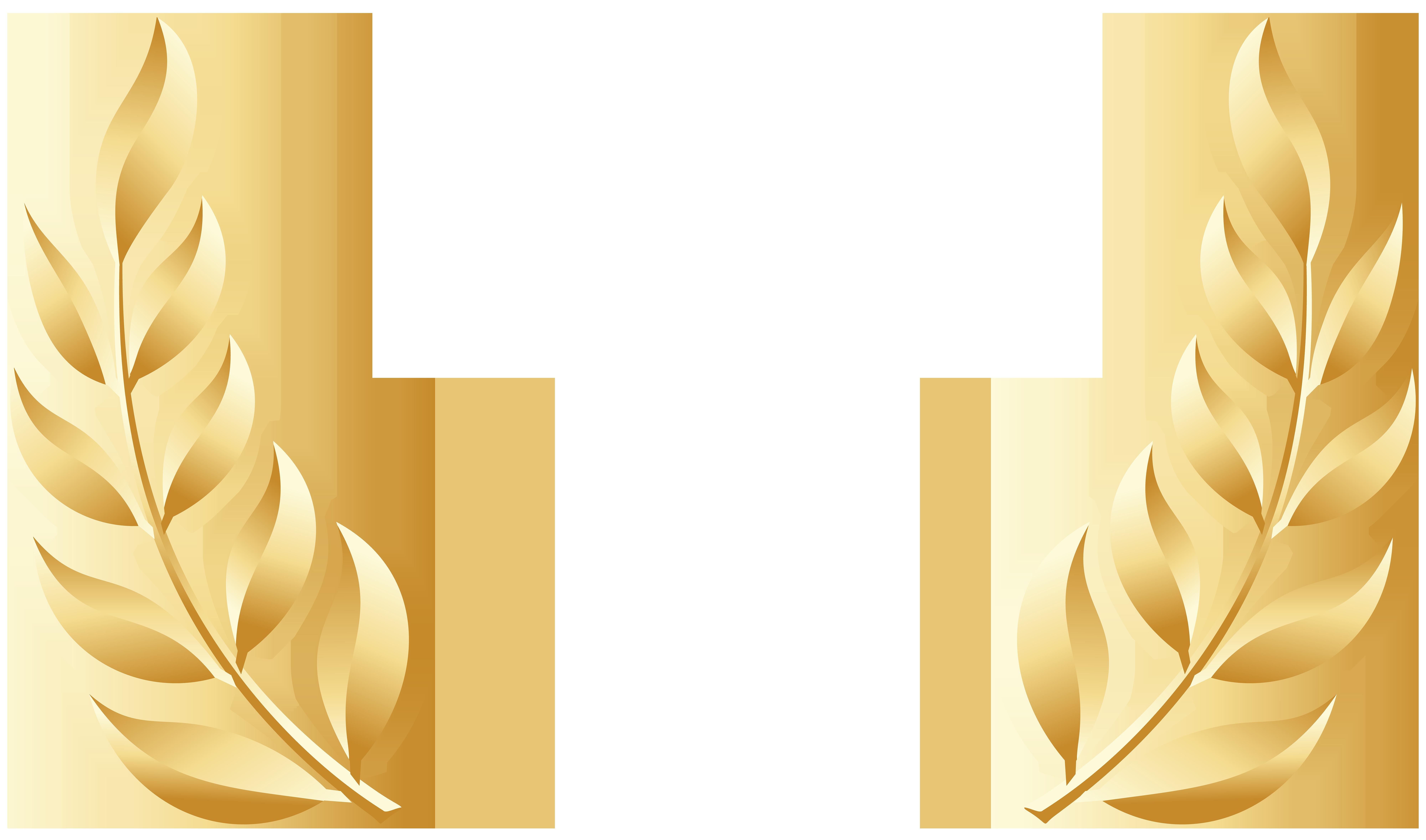 Golden Laurel Leaves Transparent Image Gallery Yopriceville High Quality Images And Transparent Png Free Clipar Flower Frame Laurel Leaves Leaf Background