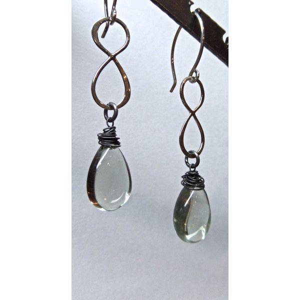 Sterling Infinity Earrings with Lemon Citrine Drops with Sterling... ($65) ❤ liked on Polyvore featuring jewelry, earrings, citrine earrings, earrings jewelry, citrine jewelry, lemon jewelry and infinity earrings