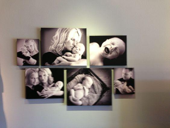 Fotos Familiares Sobre La Pared Sin Marco Jpg 564 423 Canvas Wall Collage Canvas Photo Wall Canvas Gallery Wall