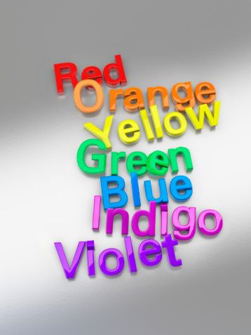 Color Namescolors Of The Rainbow