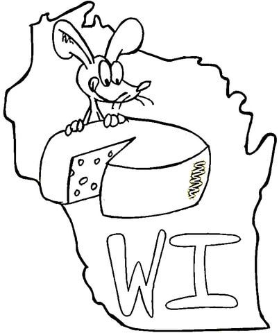Wisconsin State Symbols Coloring Page From Wisconsin Category Select From 23564 Flag Coloring Pages State Symbols Texas Symbols
