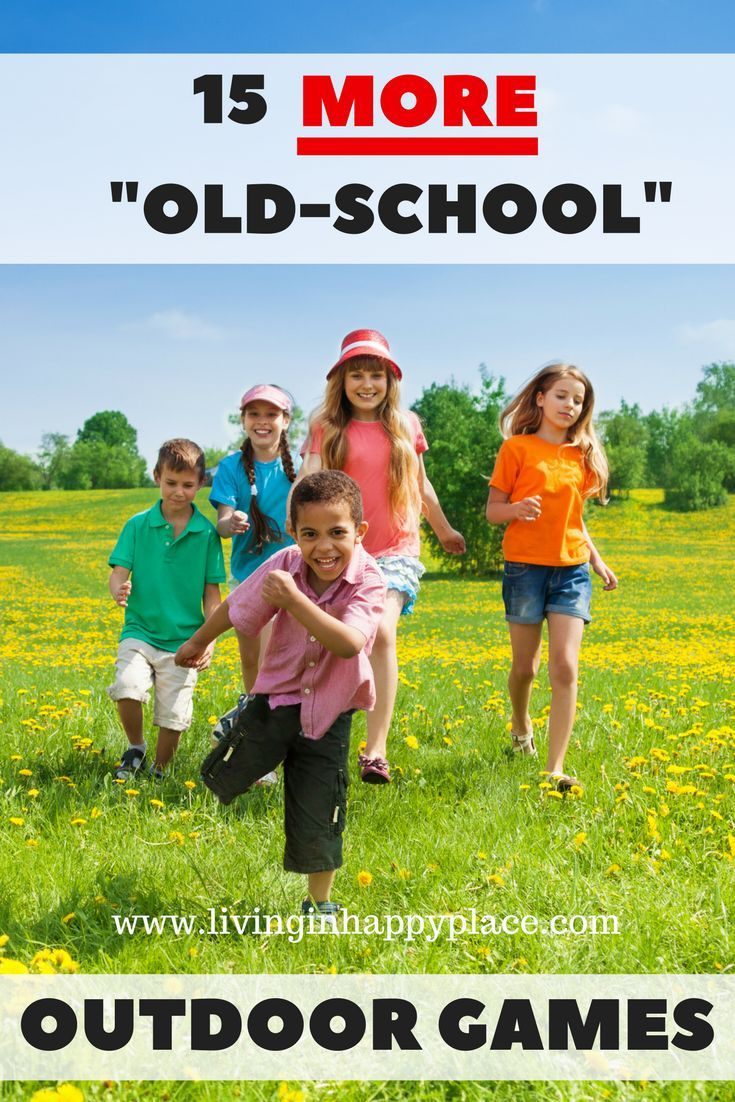 """15 things for kids to do outside! """"Oldschool"""" outdoor"""
