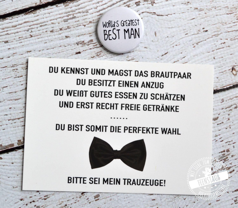 Willst Du Mein Trauzeuge Sein Feenstaub At Shop Trauzeuge Geschenk Hochzeit Trauzeugen Geschenk