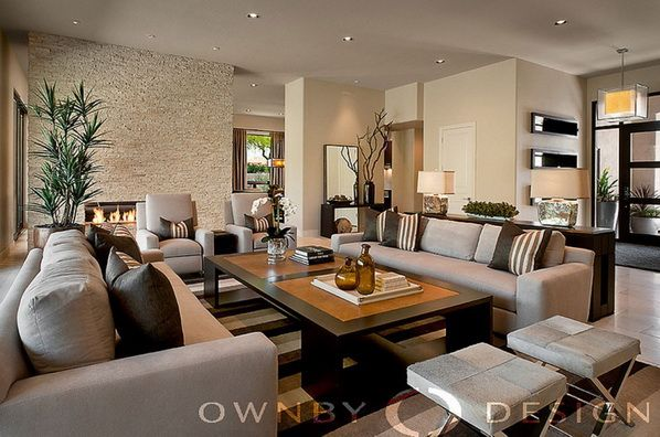 Amazing modern interior in warm colors