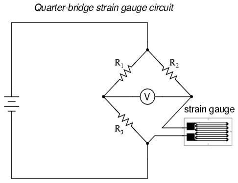 Circuit Diagram of Quarter-bridge Strain Gauge Pressure
