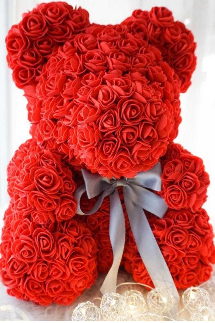 The Rose Teddy Bear Valentines Couple Forever Rose Valentines