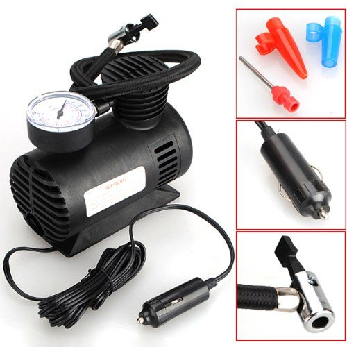 Banggood 12v Car Auto Electric Portable Pump Holiday Adds Tire Inflator Automotive Electrical Electric Cars
