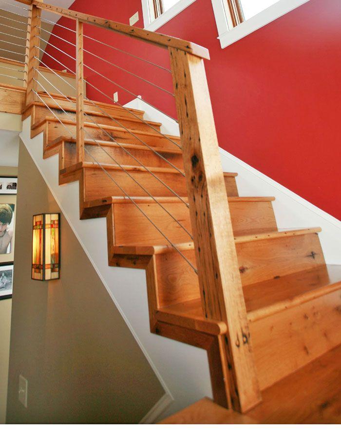 Best Antique Barn Board Oak Stair Treads And Risers Oak 400 x 300