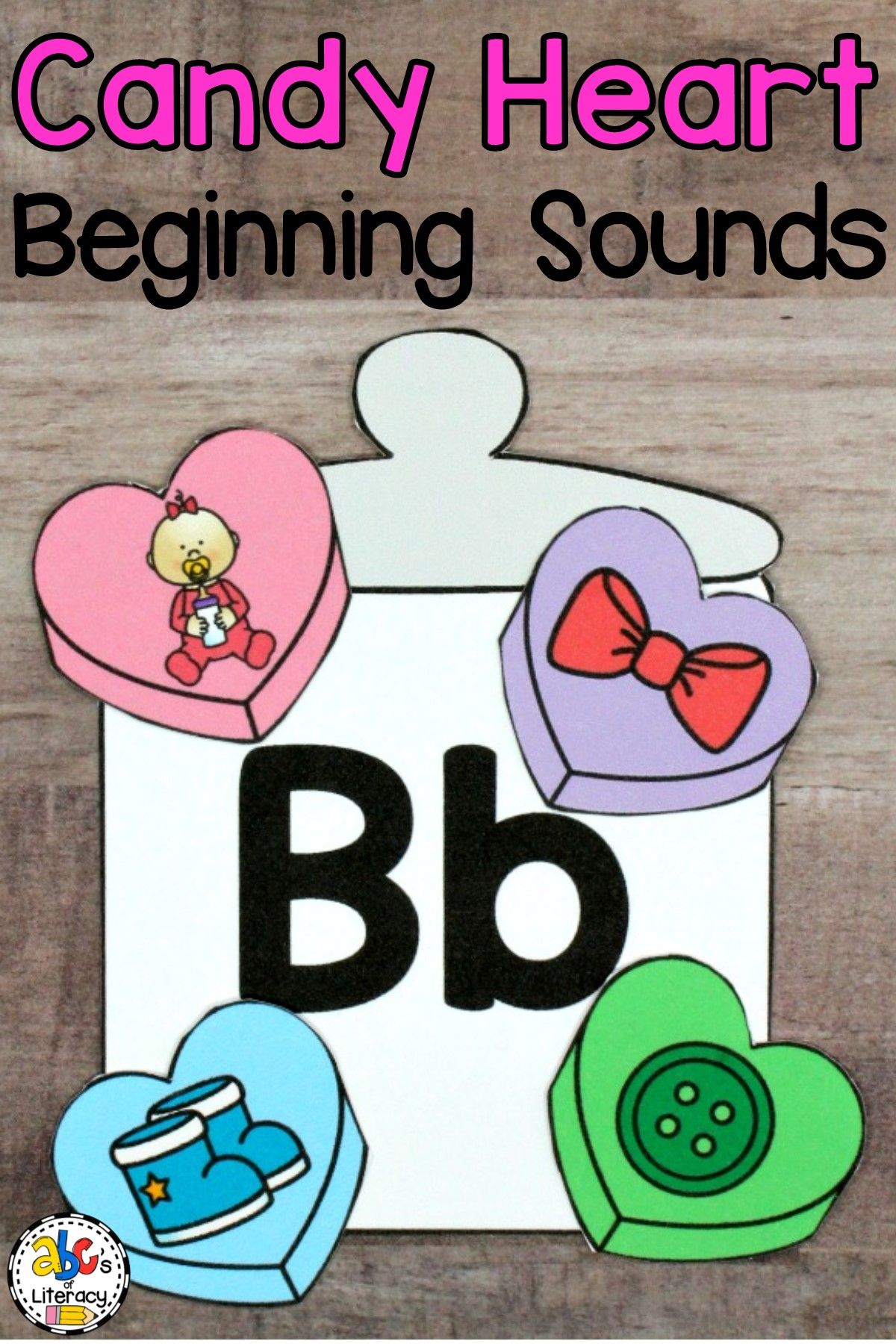 Candy Heart Beginning Sounds Sort With Images
