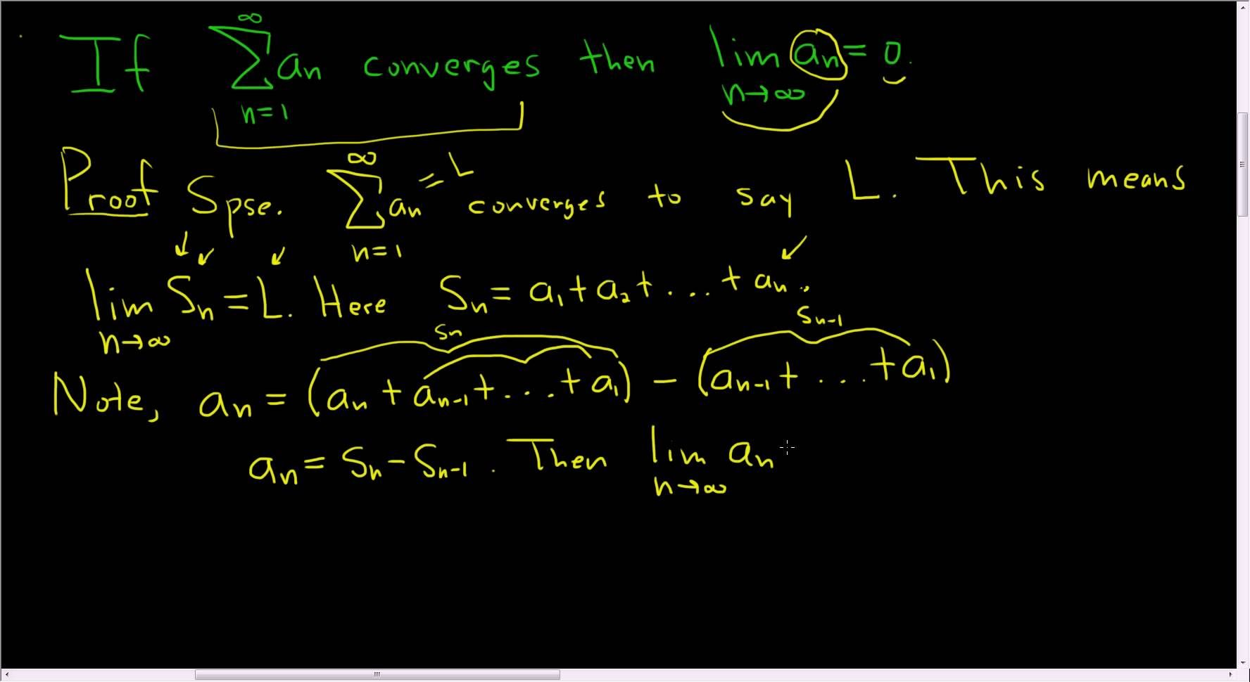 Calculus Proof of the nth Term Test for Divergence