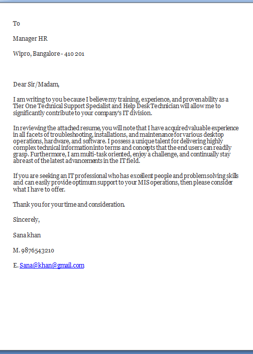 How Long Should A Cover Letter Be Sample Template Example