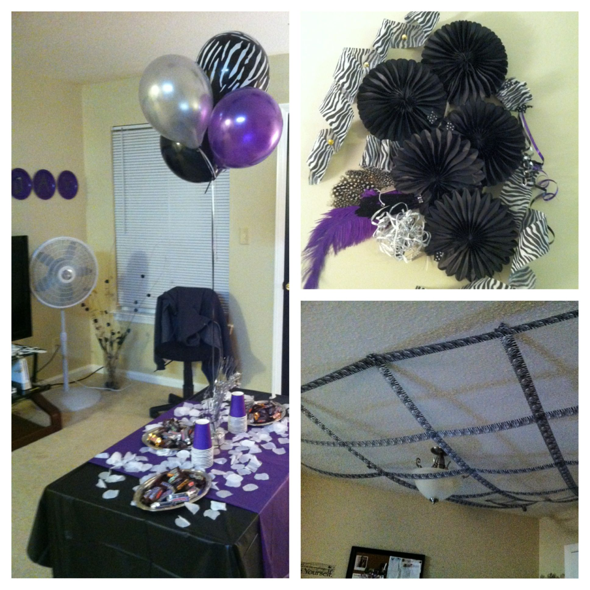 Purple And Black Birthday Party I Threw For My Good Friends 22nd Bday Everything Came From The Dollar Tree City