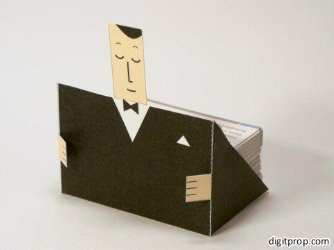 Porte Carte De Visite Fun Gentleman