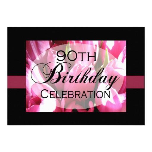 Zazzle Personalized 90th Birthday Party Invitations 161575896506993467