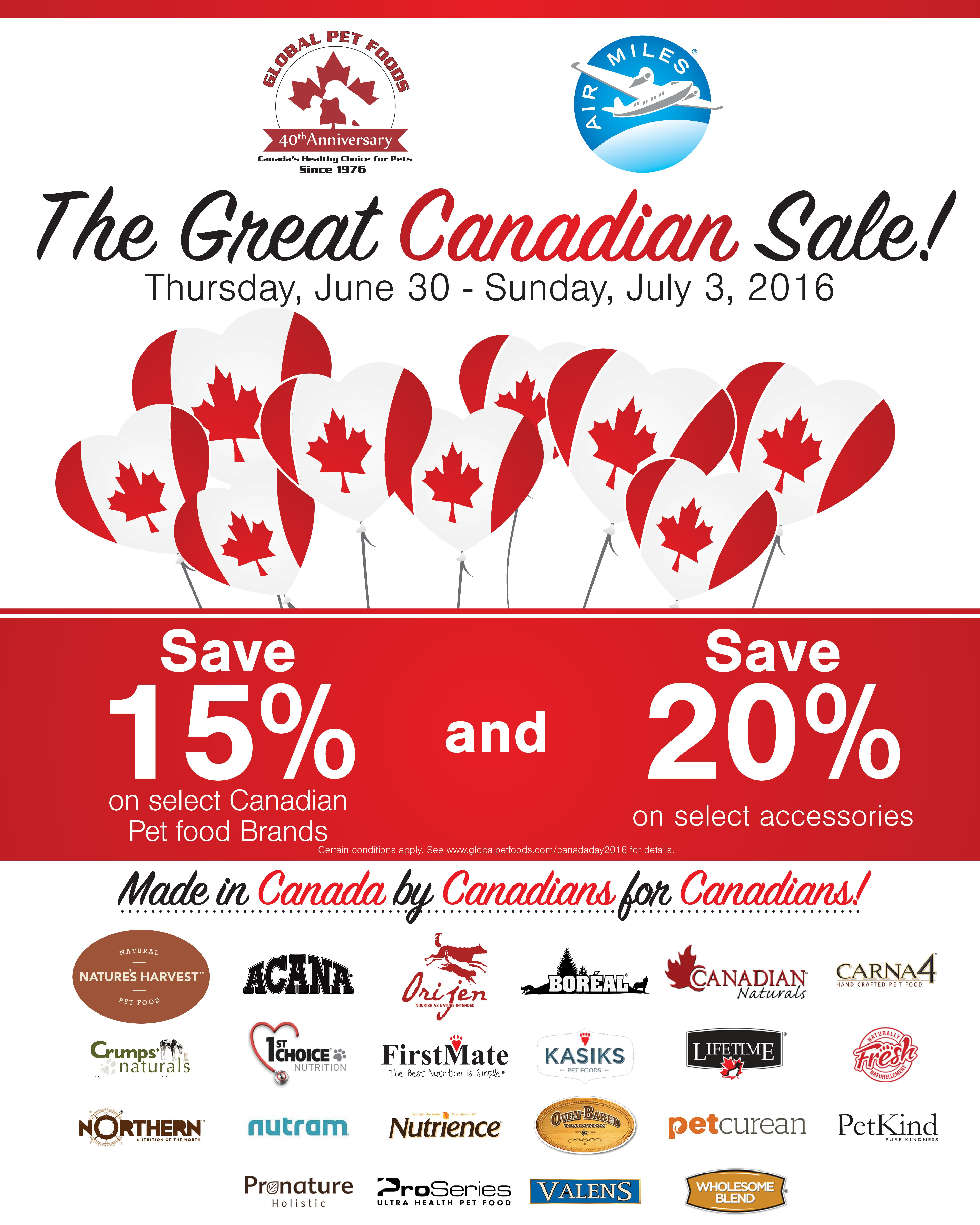 Join Us To Celebrate Canada Day And Global Pet Foods 40th