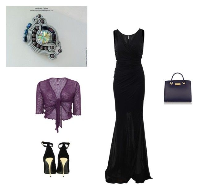 soutache brooch Violet by natalialuzik on Polyvore featuring мода, Blumarine, Balmain and ZAC Zac Posen